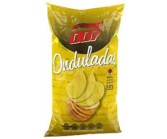 007 Snacks Patatas Fritas Onduladas 130 Gramos