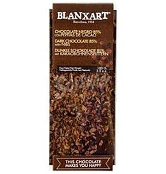BLANXART Chocolate 85% Nibs cacao 100 g
