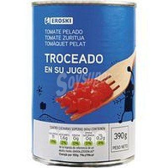 Eroski Tomate natural troceado Lata 390 g