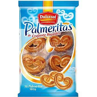 Dulcesol Palmeritas bandeja 180 g 16 unidades