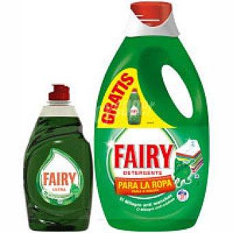 Fairy Detergente líquido Botella 31 dosis + Lavavajillas