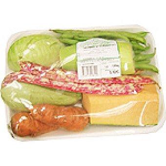 COL Potaje de verduras con calabacín blanco, judías, habichuelas, blanca, zanahoria, calabaza y piña de maíz peso aproximado Bandeja 1,5 kg