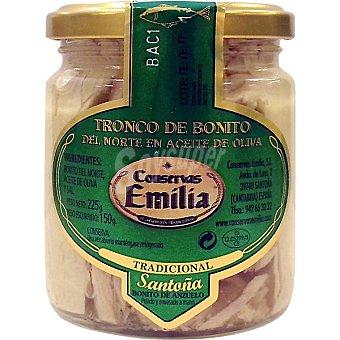 EMILIA Tronco de bonito del norte en aceite de oliva frasco 160 g neto escurrido