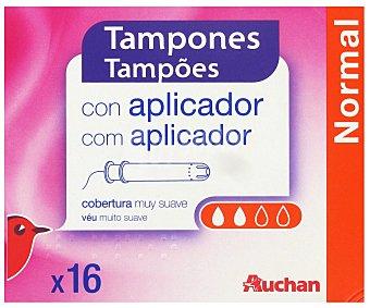 Auchan Tampón con Aplicador Compacto Normal 16 Unidades