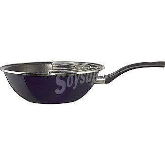 MAGEFESA Paula wok de acero esmaltado para inducción de 28 cm