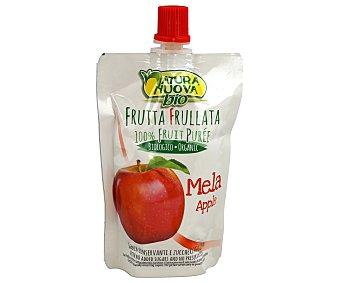 NATURA NUOVA Puré de manzana para beber ecológico sin azúcares añadidos Envase 100 g