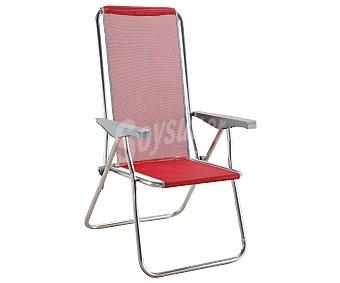 Eredu Tumbona plegable con 5 posiciones para camping y playa. Fabricada en tubo de aluminio de 22 milímetros, con asiento y respaldo de textileno y medidas de 61 x59 x106 centímetros 1 unidad