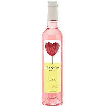 DULCE CORAZON Vino rosado bobal semidulce D.O. Manchuela Botella 50 cl
