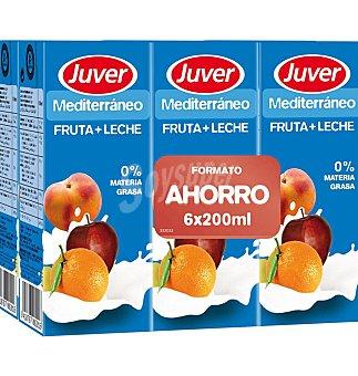 Juver Fruta+leche medit 20 CL 6 UNI