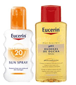 Eucerin Spray solar FPS 20 + Regalo de Oleogel de ducha 200 ml. 200 ml