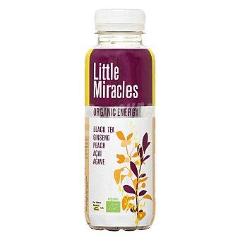 Little Miracles Bebida orgánica de té negro con ginseng y melocotón Botella 33 cl
