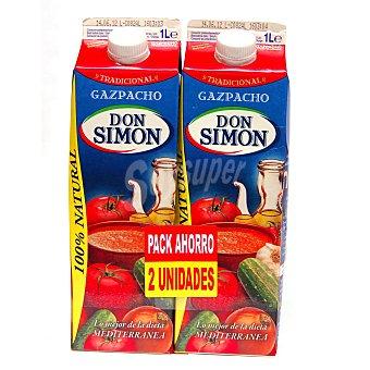 Don Simón Gazpacho refrigerado tradicional Pack 2 uds 1 lt