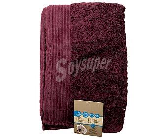AUCHAN Toalla para ducha de algodón egipcio, 630 gramos/m², color morado, 70x140 centímetros 1 Unidad