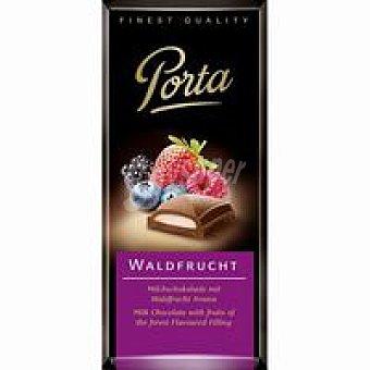 Porta Chocolate con leche con relleno frutas del bosque 100 g