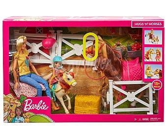 Barbie Muñeca Y chelsea con caballos y accesorios