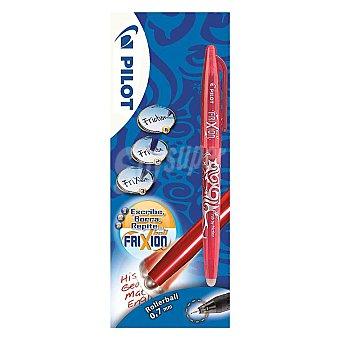 Pilot Bolígrafo del tipo roller, punta fina con grosor de escritura de 0.7 milímetros y tinta líquida roja borrable 1 unidad