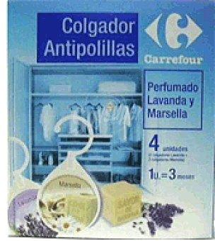 Carrefour Antipolillas colgador perfumado lavanda y marsella Paquete de 4 unidades