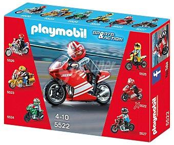 PLAYMOBIL Súper motocicleta, modelo 5522, superbike Sport & Action de 1 unidad
