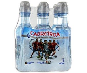 Cabreiroá Agua Mineral Sin Gas Pack 6 Botellas de 33 Centilitros