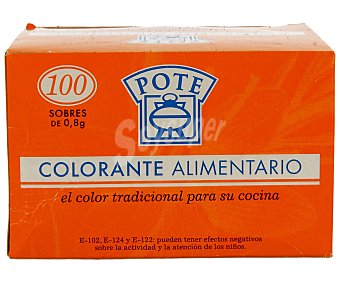 Pote Colorante alimentario Caja 80 g (100 sobres)
