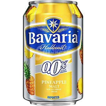 BAVARIA 0,0% cerveza sin alcohol malta-piña Holanda  lata 33 cl