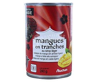 Auchan Rodajas de mango en almíbar 240 gramos
