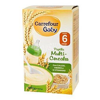 Carrefour Baby Papilla infantil desde 6 meses multicereales 1200 G 1200 g