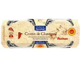 Auchan Queso de cabra Crottin de Chavignol Q,crottin d Chavign2x60g