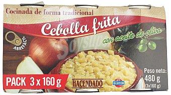 Hacendado Cebolla frita conserva 3 x 160 g