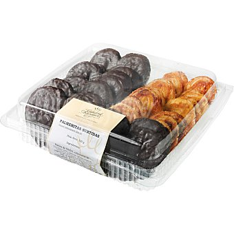 CALIDAD ARTESANA Palmeritas surtidas yema y chocolate  16 unidades (320 g)
