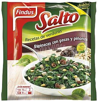 FINDUS Tradicionales espinacas con pasas y piñones 2 raciones bolsa 400 g