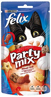 Felix Purina Party Mix grill Paquete 60 g