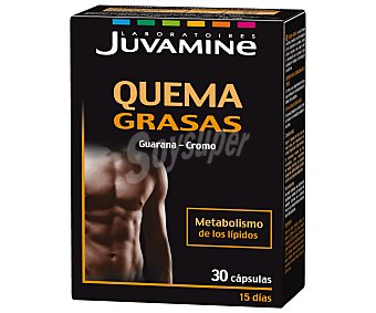 Juvamine Quema grasas, complemento alimenticio a base de guaraná y cromo 30 C