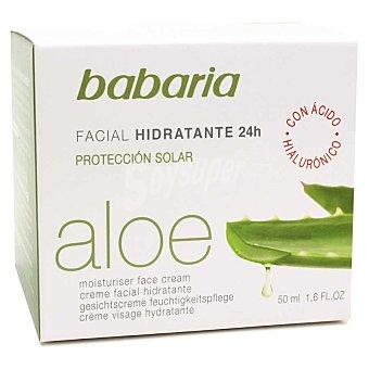 Babaria Crema facial aloe vera hidratante 24 h Tarro 50 ml