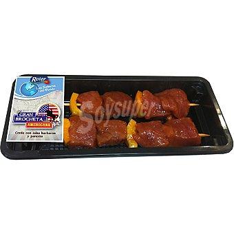 Roler brocheta americana de cerdo bandeja 250 g peso aproximado 2 unidades