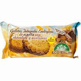 Ecosalim Galleta de espelta rellena de chocolate Paquete 80 g