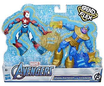 Los vengadores Pack de 2 figuras flexibles de 15cm Vengadores.