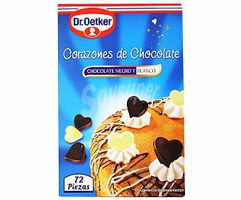 Dr. Oetker Corazones de chocolate para decorar postres Estuche 45 g