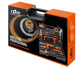 RDM Maletín de herramientas profesional multiúsos de 108 piezas 1 unidad