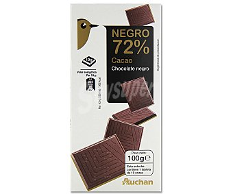 Auchan Tableta chocolate negro 72 % amargo 100 g