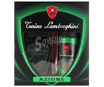 Tonino Lamborghini Estuche Colonia Hombre: Colonia Azione 100ml + Desodorante 150 ml 1u