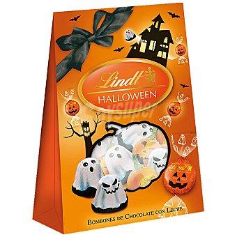 Lindt Bombones Halloween de chocolate con leche con formas de fantasmas y calabazas Bolsa 82 g