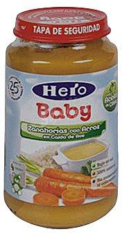 HERO BABY TARRITO ARROZ CON ZANAHORIA  A PARTIR 6 MESES (BABY NATUR) TARRO 235 g