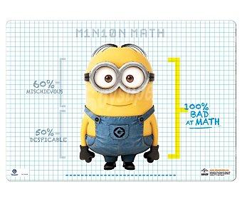 ERIK Tapete escolar con la imagen de un Minions de 34.5x49.5 centímetros 1 unidad