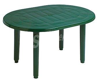 PLASMIR Mesa oval, de resina verde y 130x90x72 centímetros 1 unidad