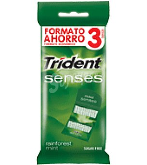 Trident Chicles sabor hierbabuena Pack de 3