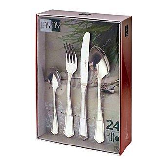 Carrefour Cuberteria de mesa 24 piezas modelo Penta 1 ud