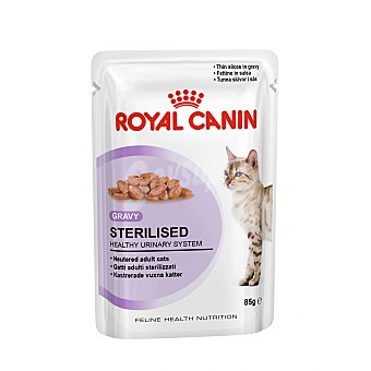 Royal Canin Comida húmeda para gatos adultos esterilizados sterilised Bolsa 85 g