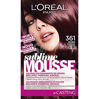 Sublime Mousse L'Oréal Paris Tinte permanente negro cereza nº 361 caja 1 unidad