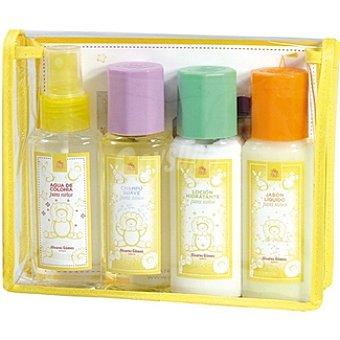 ALVAREZ GOMEZ Neceser para niños con agua de colonia frasco 90 ml + champú suave frasco 90 ml + loción hidratante frasco 90 ml + jabón líquido Frasco 90 ml